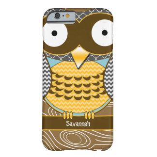 Cute Owl Moorish Zig Zag Pattern iPhone Barely There iPhone 6 Case
