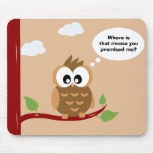 Cute Owl Mousepad