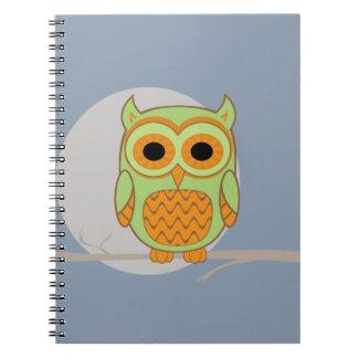 Cute Owl Spiral Note Books