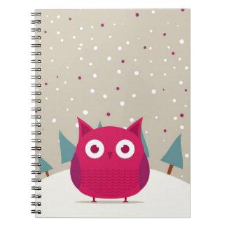 Cute owl notebooks
