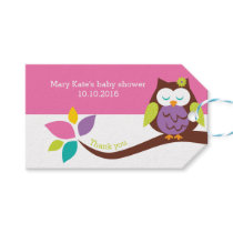 Cute OWL on a branch Animals Baby Shower BIRTHDAY Gift Tags