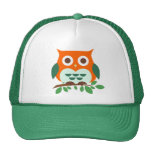 Cute Owl on a Branch Hat