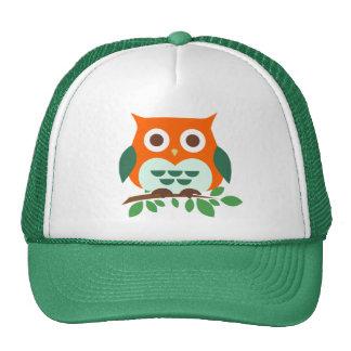 Cute Owl on a Branch Trucker Hat
