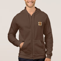 Cute Owl on Beige Heart Pattern Background Hoodie