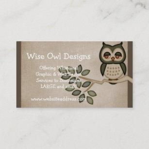 Cute owl business cards templates zazzle cute owl on branch business card design colourmoves