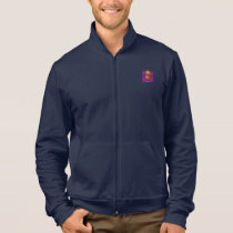 Cute Owl on Purple Heart Pattern Background Jacket
