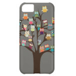 Cute Owl On Tree | Background iPhone 5C Cases