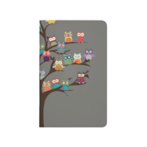 Cute Owl On Tree   Background Journal