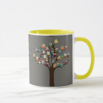 Cute Owl On Tree | Background Mug