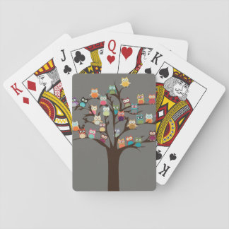Cute Owl On Tree | Background Playing Cards