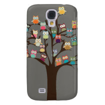 Cute Owl On Tree | Background Samsung Galaxy S4 Case