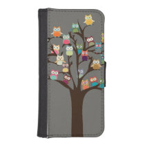 Cute Owl On Tree | Background Wallet Phone Case For iPhone SE/5/5s