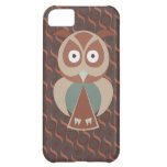 Cute owl on wavy background case for iPhone 5C
