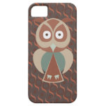 Cute owl on wavy background iPhone 5 cover