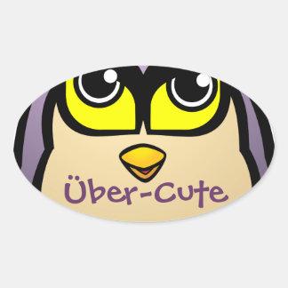 Cute Owl Oval Sticker