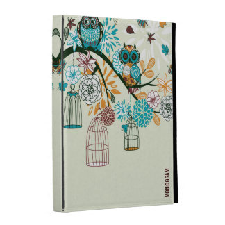 Cute Owl Pair On Tree-Brunch 2 iPad Cases