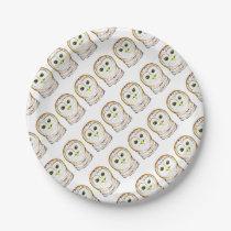 cute owl paper plate