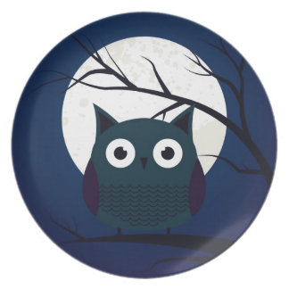Cute owl party plates