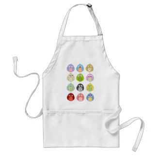 Cute Owl Pattern Adult Apron
