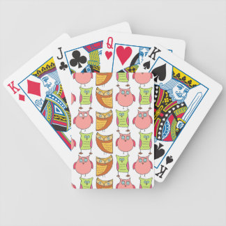Cute Owl Pattern Card Deck