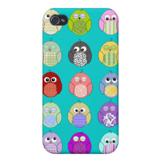 Cute Owl Pattern iPhone 4/4S Cases