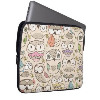 Cute owl pattern laptop sleeve