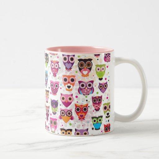 Cute Owl Pattern Mug Zazzle