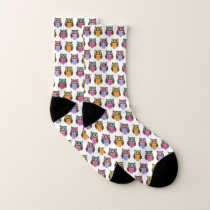Cute Owl Pattern Novelty Socks