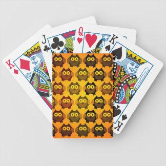 cute owl pattern poker deck