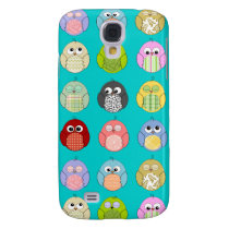 Cute Owl Pattern Samsung Galaxy S4 Cover