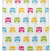 Cute Owl Pattern Shower Curtain