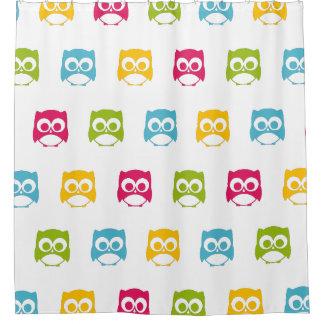 Cute Owl Pattern Shower Curtain