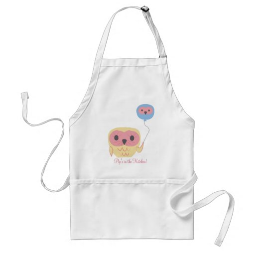 Cute Owl Personalized Girls Art Craft Apron