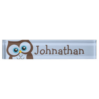 Cute Owl Personalized Nameplate