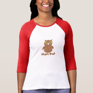 Cute Owl picture and text Night Owl Shirt
