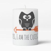 Cute Owl Pillar Candle