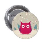 Cute owl pin