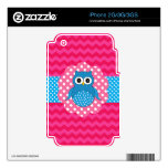Cute owl pink chevrons iPhone 2G skin