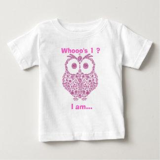 CUTE OWL PINK GIRLS  First Birthday GIFT Baby T-Shirt