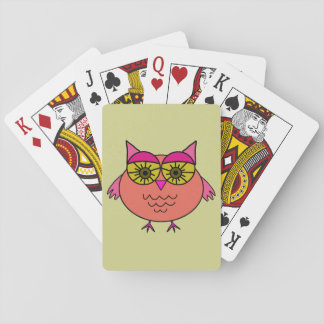 Cute Owl Poker Cards