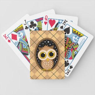 cute owl poker deck