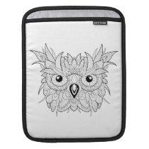 Cute Owl Portrait Doodle Sleeve For iPads