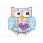 Cute owl postcard