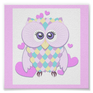 Cute Owl Poster