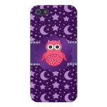 Cute owl purple stars and moons iPhone 5 covers
