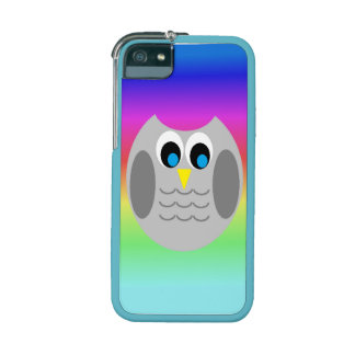 Cute Owl Rainbow Background Phone Cover iPhone 5 Covers