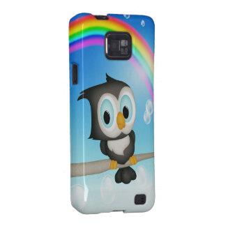 Cute Owl & Rainbow Samsung Galaxy Case Samsung Galaxy SII Case