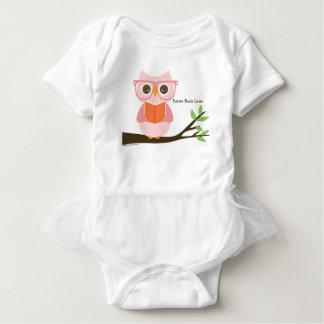 Cute Owl Reading Baby-Einteiler