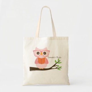 Cute Owl Reading Budget Tote Bag