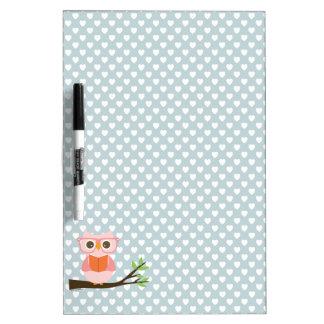 Cute Owl Reading Dry-Erase Board